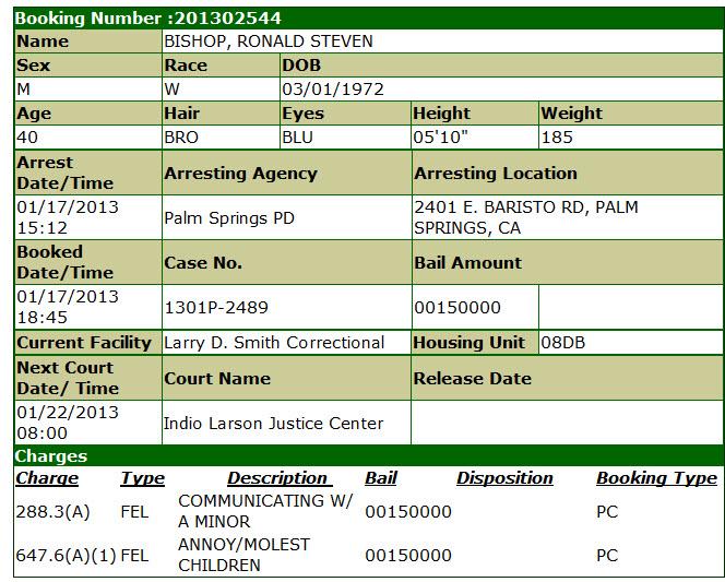 Bishop Ronald Steven inmate info.jpg