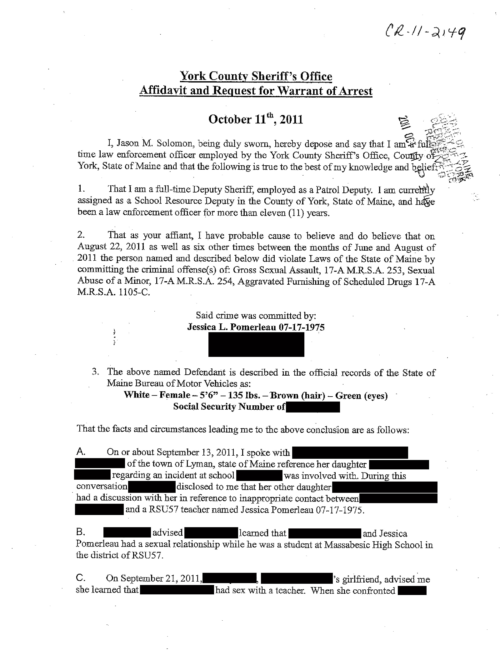 Copy of pomerleau jessica arrest affidavit1.png