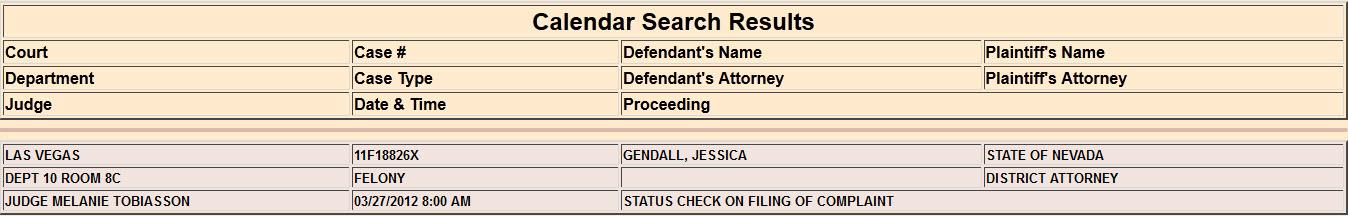 gendall jessica clark county courts case status 20120221.jpg