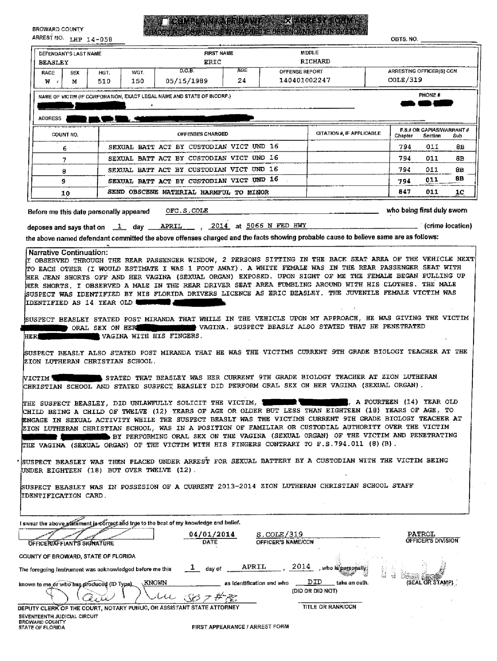 Copy of Beasley Eric arrest affidavit2.png